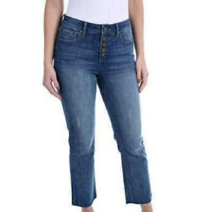 NWT Kenneth Cole Button Fly High Rise Jean's 12/31